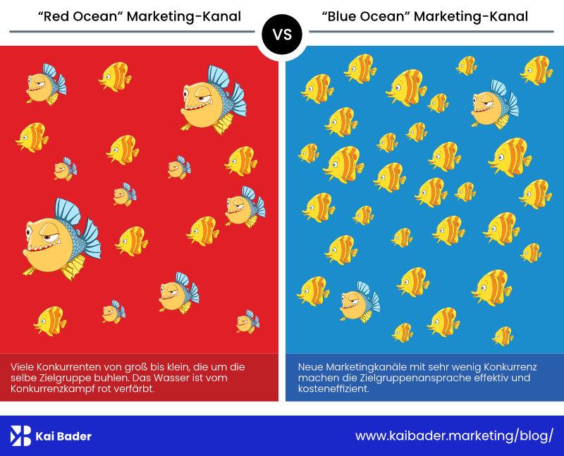 Blue Ocean Marketingkanal Schaubild